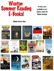 13 ebooks Middle School Summer Reading 1