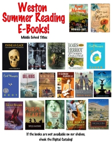 13 ebooks Middle School Summer Reading 2