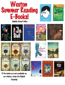 13 ebooks Middle School Summer Reading 3