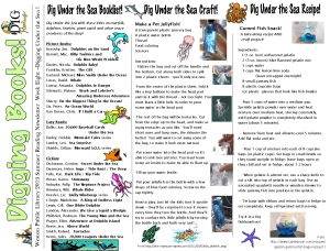 13 newsletter week eight undersea