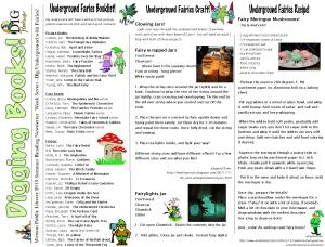 13 newsletter week seven fairies