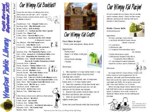 monthly newsletter sept 13 wimpy kid