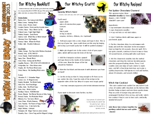 monthly newsletter oct13 witches