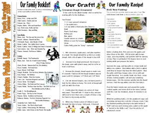 monthly newsletter nov 13 families