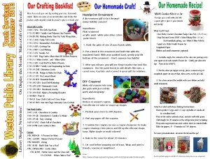 monthly newsletter Dec 13 gift crafting