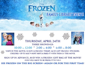 frozen movie event
