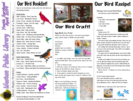 monthly newsletter april 14 birds