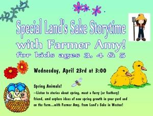 special storytime farmer amy