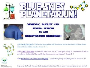 14  blue skies  planetarium