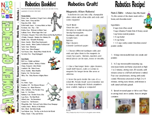 14 newsletter robotics