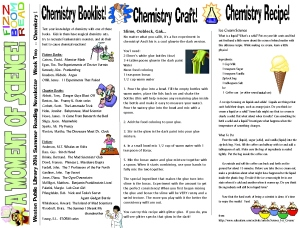 14 newsletter week 2 chemistry