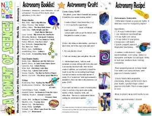 14 newsletter week 6 astronomy