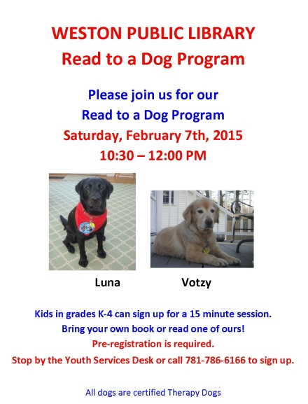 read to a dog feb 7