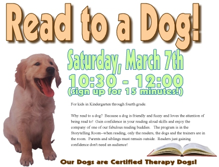 read to a dog march